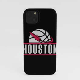 Houston basketball custom black logo iPhone Case