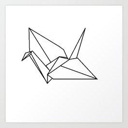 Origami Crane Art Print