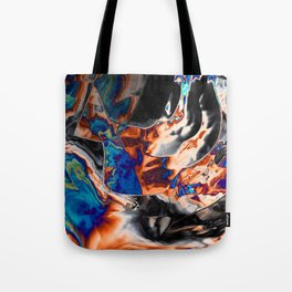 The oil is glitching Tote Bag