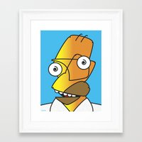 homer Framed Art Prints featuring HOMER PICASSO by Laertis Art