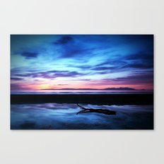 Sunset Over Troon Beach Canvas Print