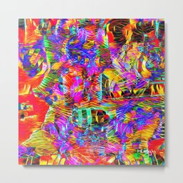 Ouch, My Eyes! Metal Print