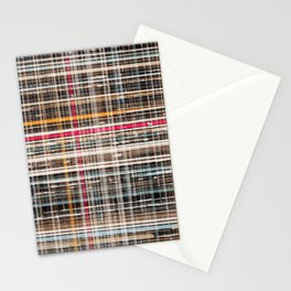 structure with red lines Stationery Cards