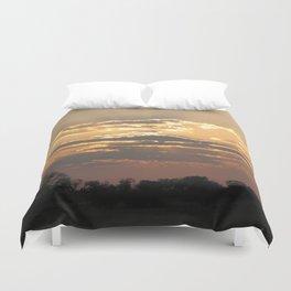Sunset in Africa Duvet Cover