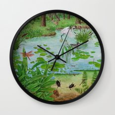 A Day of Forest (4). (the lake ecosystem) Wall Clock
