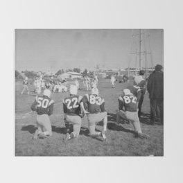 Old Lisle football stance Throw Blanket