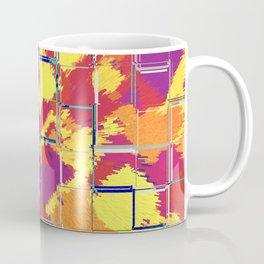 Squares Red & Yellow Abstract Coffee Mug