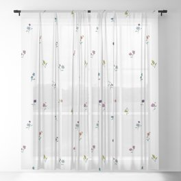 Flower Shower Pin Sheer Curtain