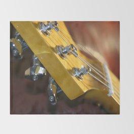 Guitar Headstock Throw Blanket