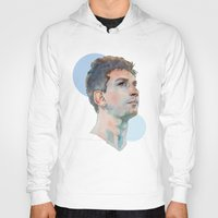 messi Hoodies featuring Lionel Messi by Megan Diño