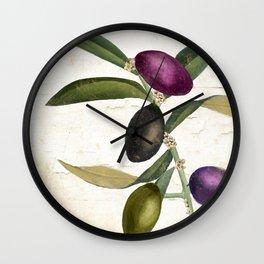 Olive Branch II Wall Clock