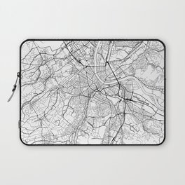 Basel Map White Laptop Sleeve