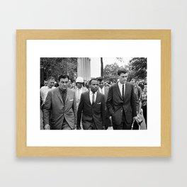 James Meredith walking to class, 1962 Framed Art Print