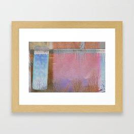 Freeze Burn Framed Art Print