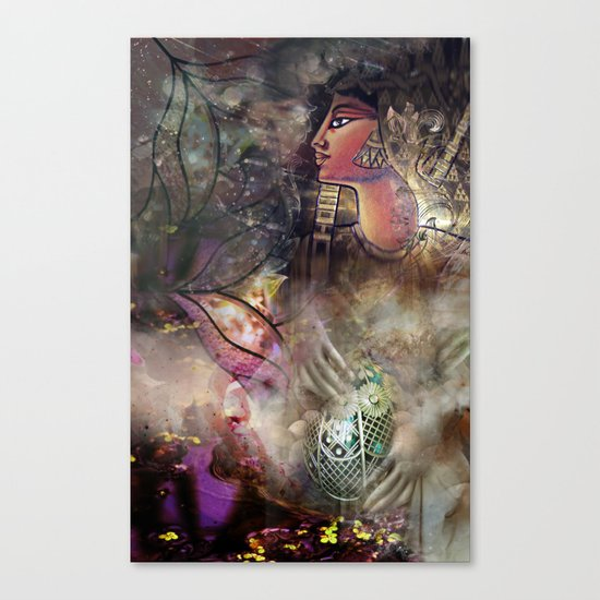 Gold and Glass Canvas Print