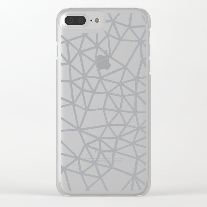 Segment Grey and Black Clear iPhone Case