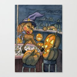 Pumpkin Stripper Canvas Print