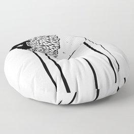 Creepy Buffalo Floor Pillow