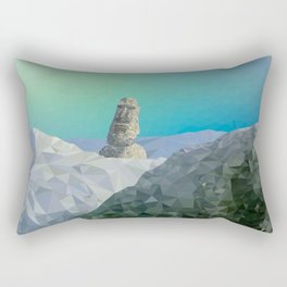 This is Not Easter Island Rectangular Pillow