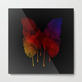Dripping Butterfly 2 Metal Print