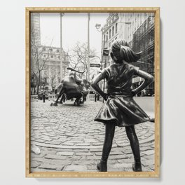 Fearless Girl & Bull - NYC Serving Tray