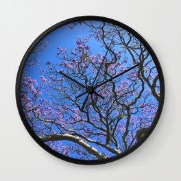 Blue Jacaranda 3/3 Wall Clock