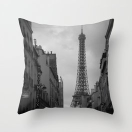 Fight Like a Girl Paris Vintage Throw Pillow