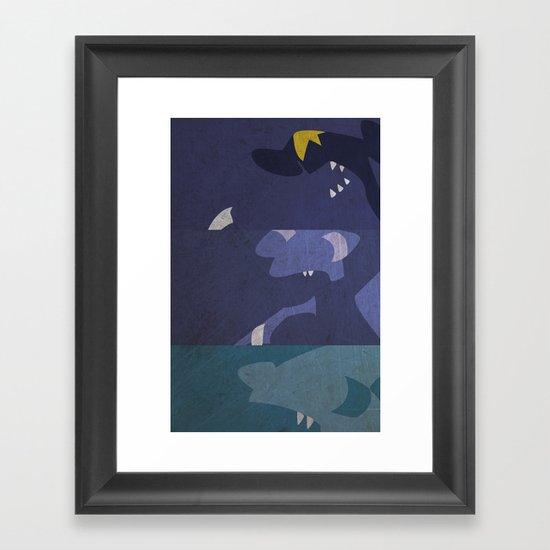 Gible, Gabite, Garchomp Framed Art Print