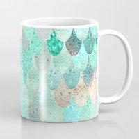 mermaid Mugs featuring SUMMER MERMAID by Monika Strigel