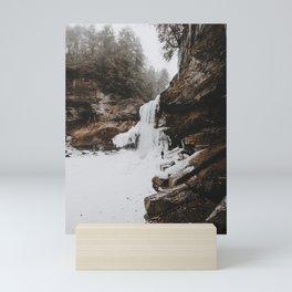 Winter Waterfall Mini Art Print