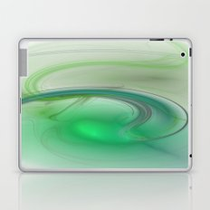 Fractal Green Mist Laptop & iPad Skin