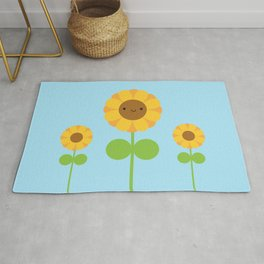 Kawaii Sunflower Rug