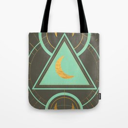 Celestial in Mint & Gold Tote Bag