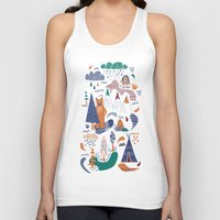 camp Tank Tops featuring Bear camp by Demi Goutte