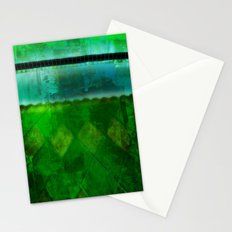 Blue and Green ~ Abstract Stationery Cards
