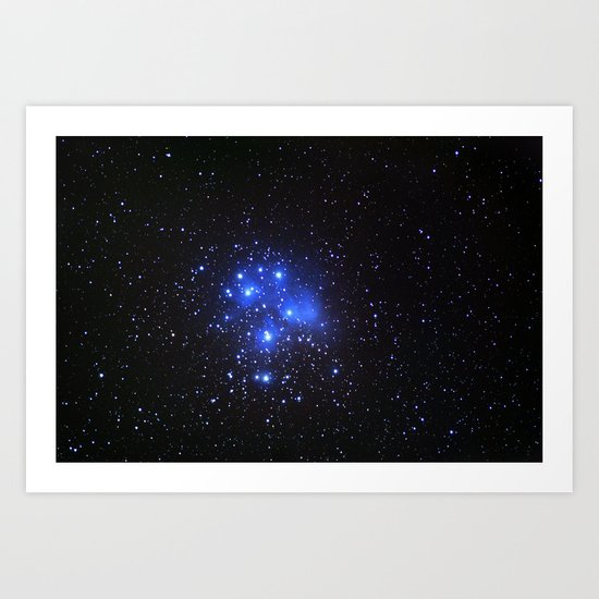 the Pleiades or Seven Sisters in Taurus Art Print