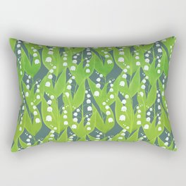 Lily of the Valley Pattern Rectangular Pillow