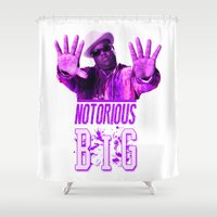 2pac Shower Curtains featuring Notorious Big by Gold Blood