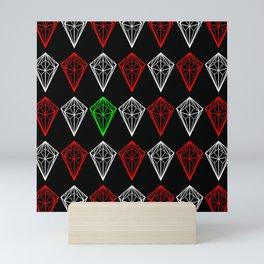 Diamonds Rubies and sapphire Mini Art Print