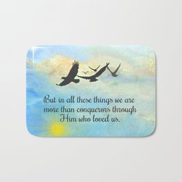 More Than Conquerors Bath Mat