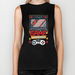 Just One More Game Funny Gaming Gamer Tee Gift Fun Biker Tank