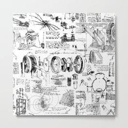 Da Vinci's Sketchbook Metal Print