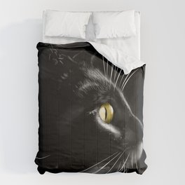 Portrait of a cool cat Comforters