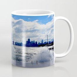 When Sandy Made Waves in Chicago #4 (Chicago Waves Collection) Coffee Mug