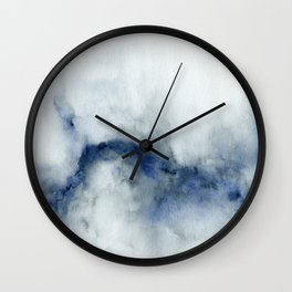 Indigo Abstract Painting | No.3 Wall Clock