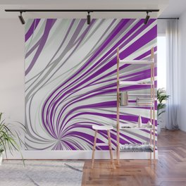 Graysexual Pride Pinched Receding Stripes Wall Mural