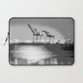 """Harbor Cranes 5"" by Murray Bolesta! Laptop Sleeve"