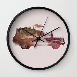 Drive me back home 2 Wall Clock