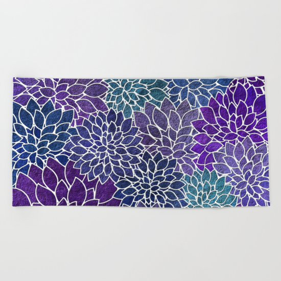 Floral Abstract 22 Beach Towel
