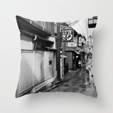 Pontocho in the Morning, Kyoto Throw Pillow